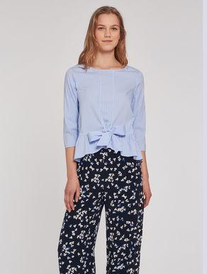 Poplin blouse with flounce