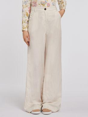 Soft linen palazzo trousers