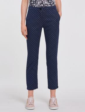 Slim jacquard lamé trousers