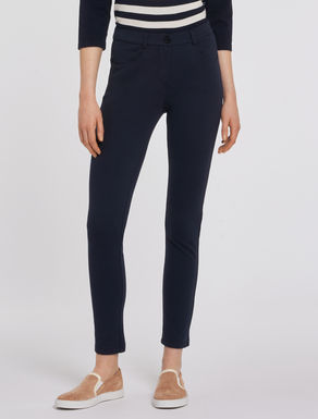 Skinny Milano-knit trousers
