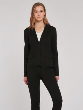 Slim-fit jersey blazer
