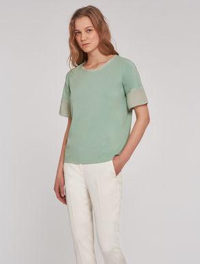 T-shirt in jersey e tessuto