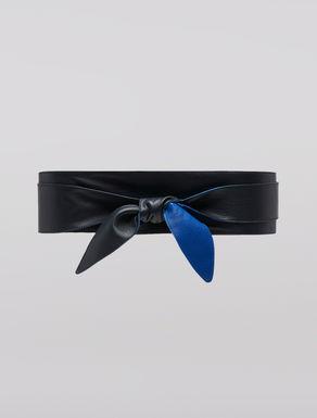 Double sash in nappa