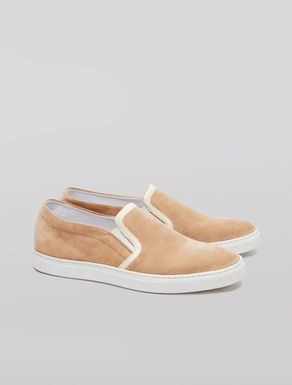 Slip-on suede sneakers