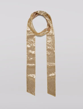 Skinny scarf with sequins