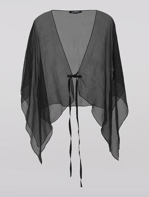 Silk crêpe shrug