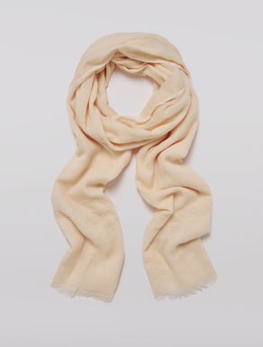 Scarf in embroidered gauze