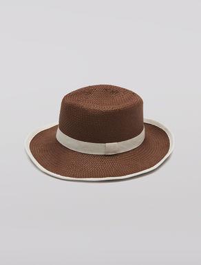 Cappello fedora in stuoia