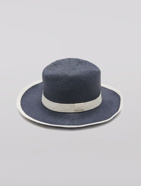 Cappello fedora in stuoia