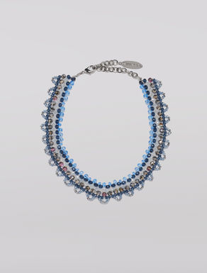 Necklace with bead mosaic