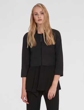 Cropped faille jacket