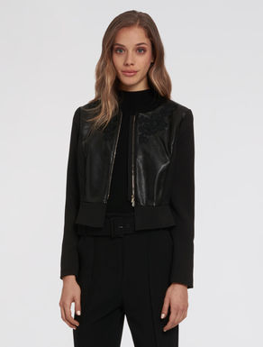 Slim jacket with appliqués