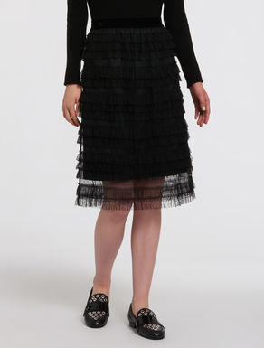 Tulle skirt with ruches