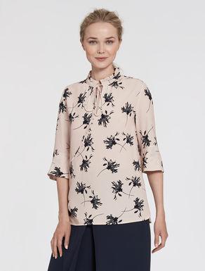 Floral crêpe blouse
