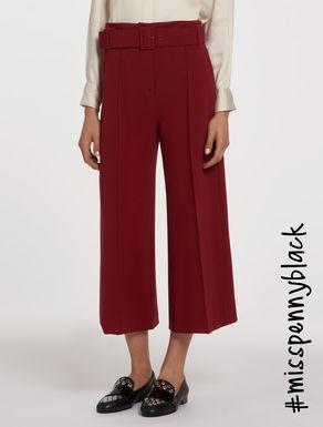 Pantaloni wide in tessuto stretch