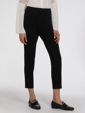 Slim stretch fabric trousers