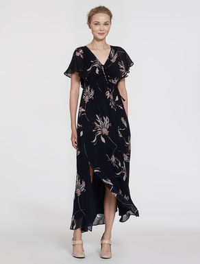 Long floral georgette dress