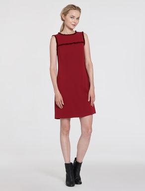 Cady sheath dress with fringe
