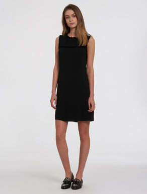 Cady sheath dress with fringe