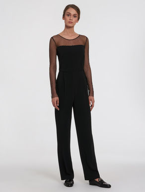 Cady and tulle jumpsuit