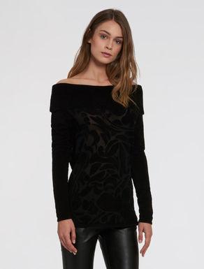 Chenille dévoré sweater