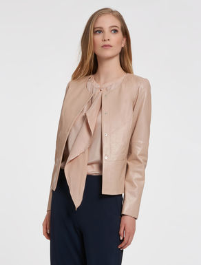 Slim suede jacket