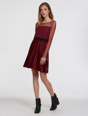 Tulle and velvet jersey dress