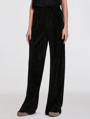 Pleated jersey trousers