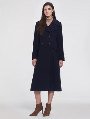 Wool/cashmere redingote coat