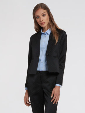 Slim jacquard blazer