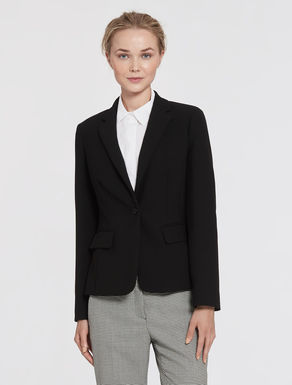 Slim-fit double fabric blazer