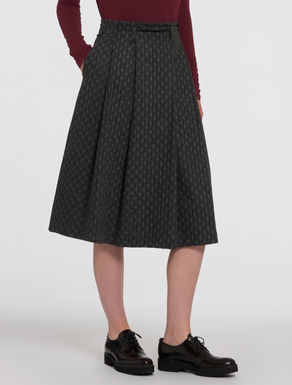 Flannel pleated skirt