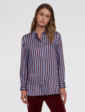 Flowing twill tunic shirt