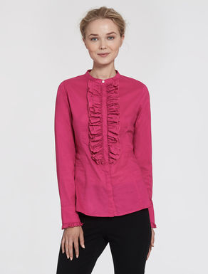 Muslin blouse with ruches