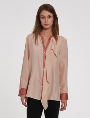Silk blouse with ruffles