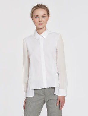 Poplin and georgette blouse