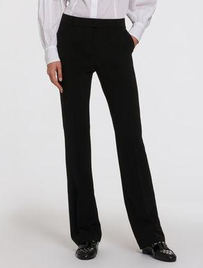Pantaloni kick-flare in tecno-tessuto