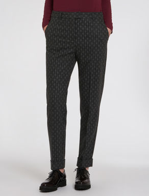 Slim flannel trousers