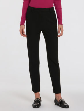 Slim trousers with line