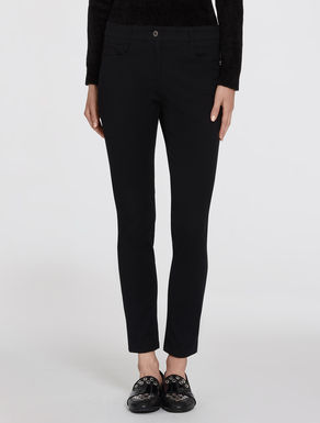 Pantaloni skinny in gabardine