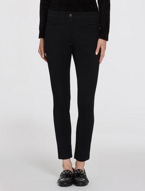 Gabardine skinny trousers