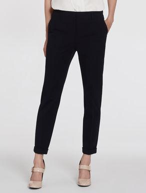 Slim gabardine trousers