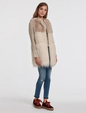 Long plush vest