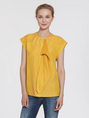 Silk top with ruffles