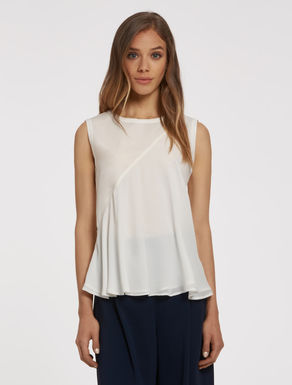 Poplin and georgette top