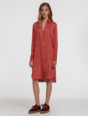 Fluid twill shirt dress