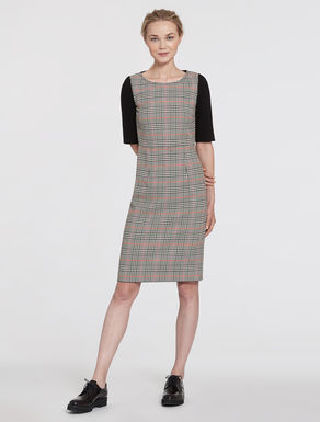 Prince of Wales and jersey tube dress