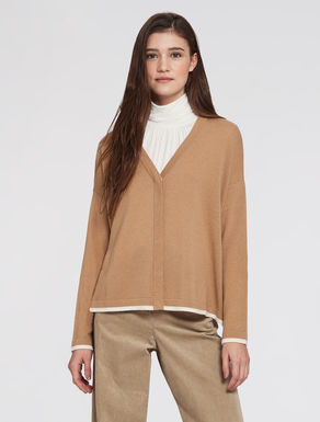 Wool/cashmere cardigan