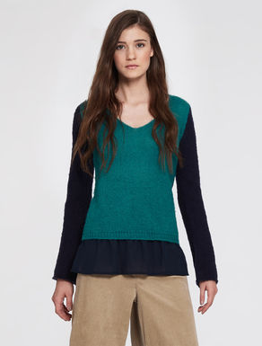 Mohair and georgette sweater