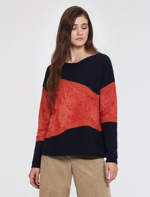 Wool and chenille sweater
